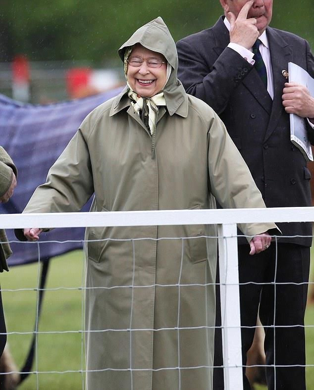 pioggia regina Elisabetta