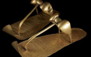 Tutankhamnuns_golden_sandals- Museo Egizio del Cairo