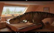 quando sei giù di morale pensa ad un t rex che rifà il letto_non_si_dice_piacere_tircheria_galateo_bon_ton_galateo