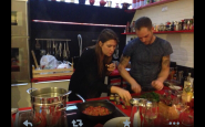 a cena da rugiati - lagostina -simone rugiat-ilaria-valentinuzzi-non-si-dice-piacere