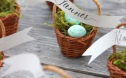 dettaglio tavola psqua-fiori-uova-cioccolato-non si dice piacere-buone maniere-fermaposto-