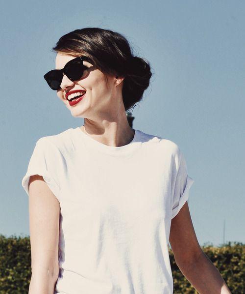 miranda kerr-white tee- t-shirt biance-non-si-dice-piacere-blog-bon-ton