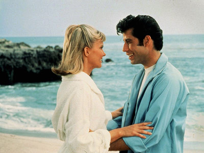 grease-danny-sandy-on-the-beach