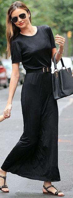 miranda kerr- estate vestito-non si dice piacere-buone maniere-nero tubino