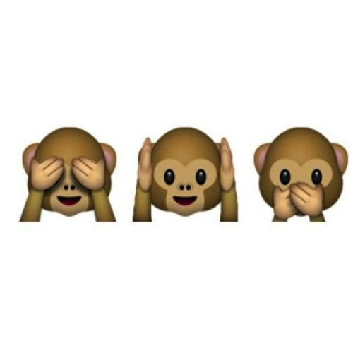 scimmiette amore whatsapp-non si dice piacere bon ton buone maniere non vedo non sento non parlo
