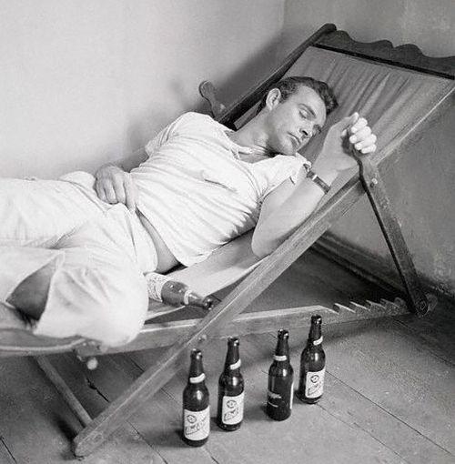 Sean Connery Sleeping in Chair