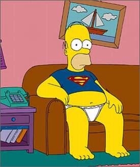 homer-simpson-superman - slip aderenti simpatici bizzari- Biancheria-intima-come-sceglierla-colore-tipo-boxer-slip-tanga-non-si-dice-piacere-bon-ton