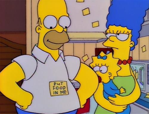 put-food-simpson-homer-magro-scheletro-fatkini-curvy-pirelli-non-si-dice-piacere-bon-ton-buone-maniere