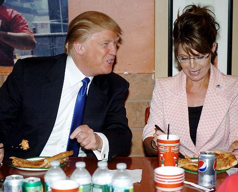 Former Governor of Alaska Sarah Palin arrives at Trumps Tower