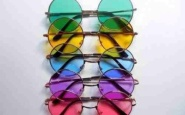occhiali lenti colorate rotonde