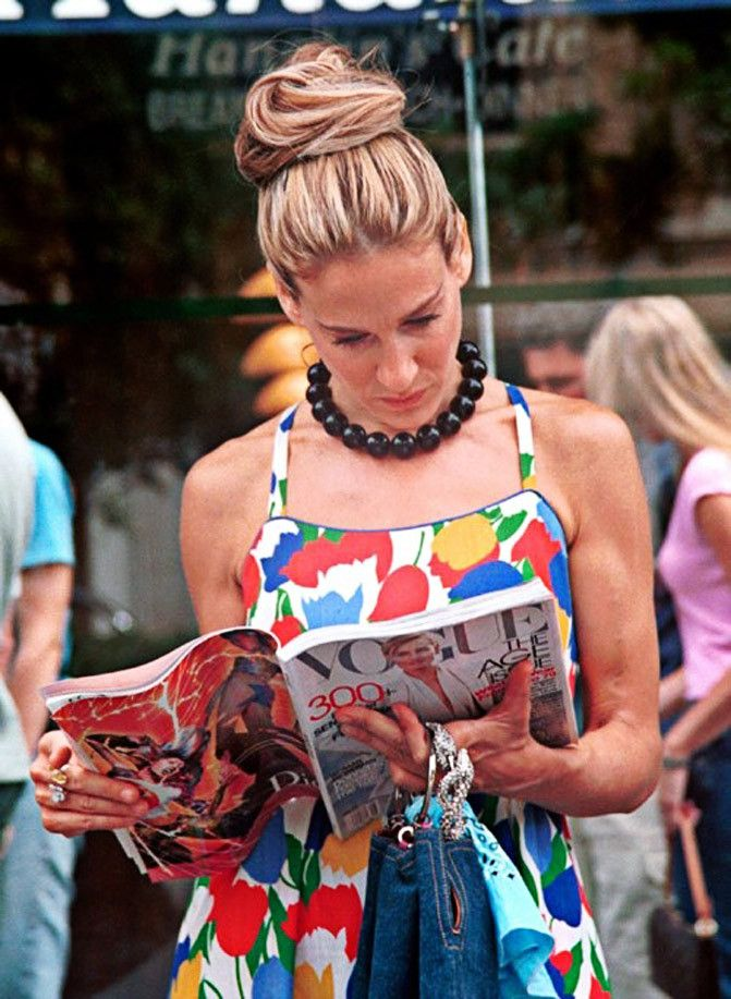 Carrie-Bradshow-Vogue-relax-momento-leggere-riviste