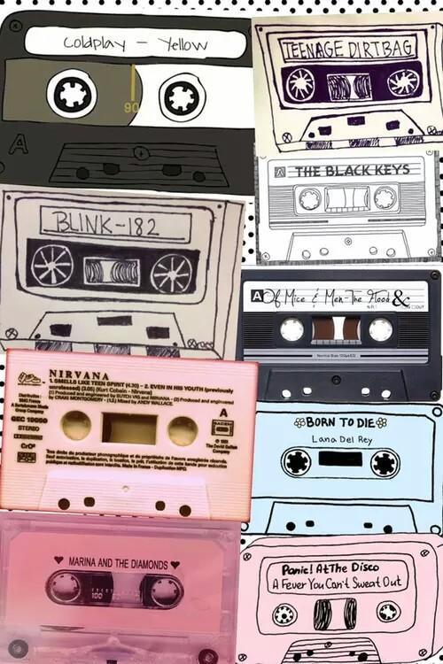 musicassette-anni 90-blik-nirvana-vintage-compilation