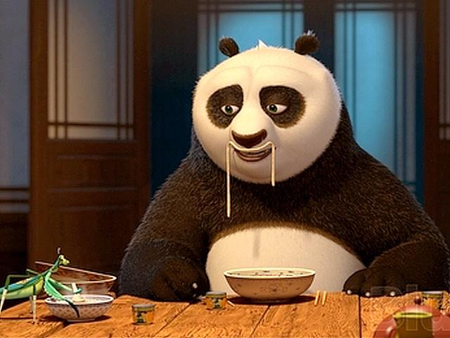 Po-eats-noodles - kung fu panda mangiare ristotante
