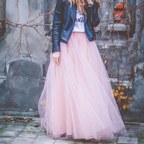 tutu- gonna-giubotto pelle tulle