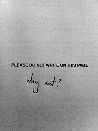 please don't write this page - why not? - lista desideri tavola