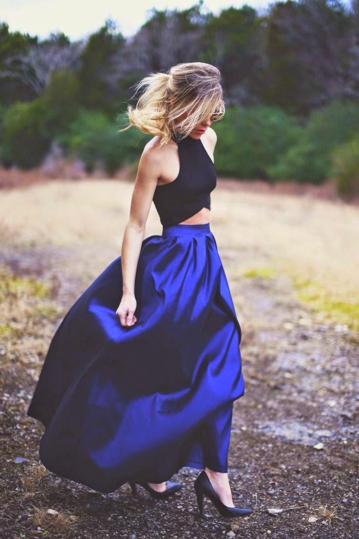 vestito blu - nero - sera- eleganza- trand