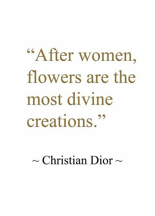 donne dior citazione quote bellezza fiori