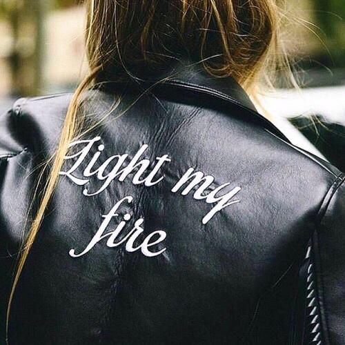 light my fire- giacca- personalizzata chiodo