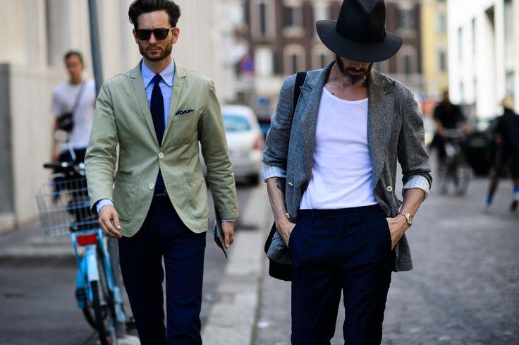 uomo vestirsi eleganza Street Style photos
