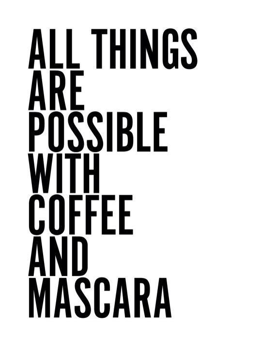 mascara caffee buongiorno inziare giornata beauty consigli