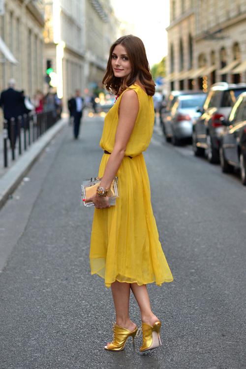 Olivia-Palermo- giallo- estate- non si dice piacere