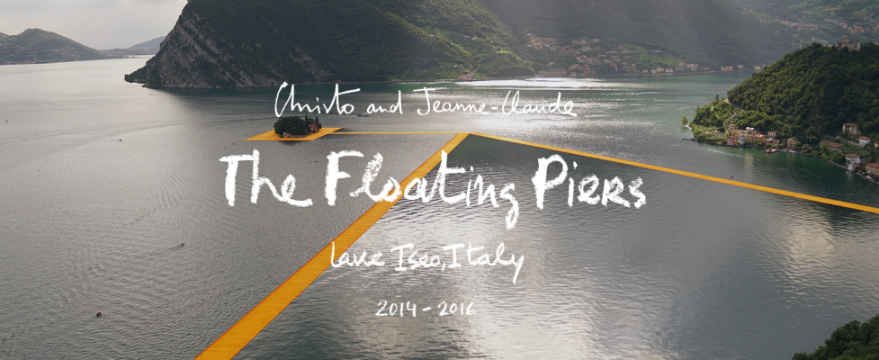 the floating piers- christo- jean claude- 2016 lago iseo- landing art- ready made