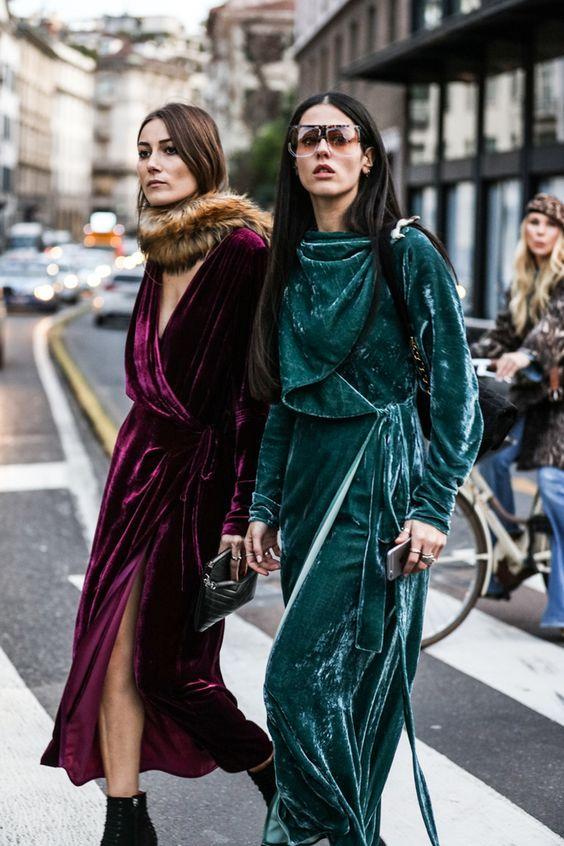 velluto boho stile inverno moda