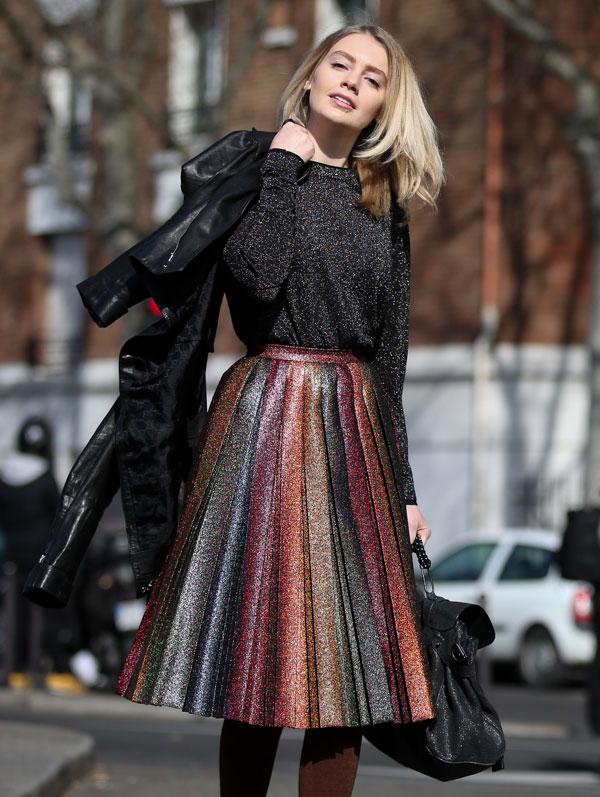 look-lurex-street-style tendenza inverno 2016 -2017 moda