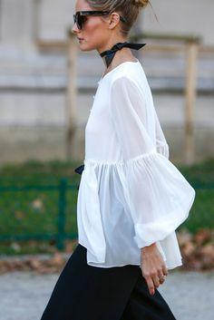 olivia palermo-camicia-asimmetrica-fiocchi-trend-moda-privmavera-2017
