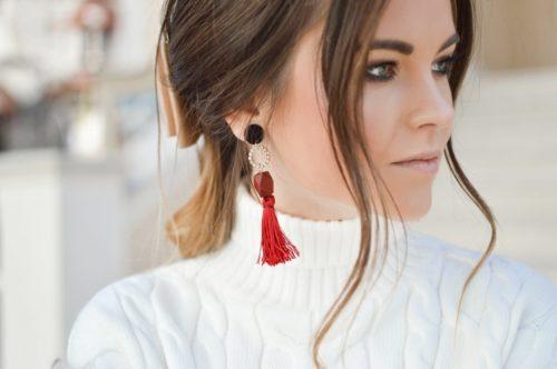 orecchini maxi colori strasse