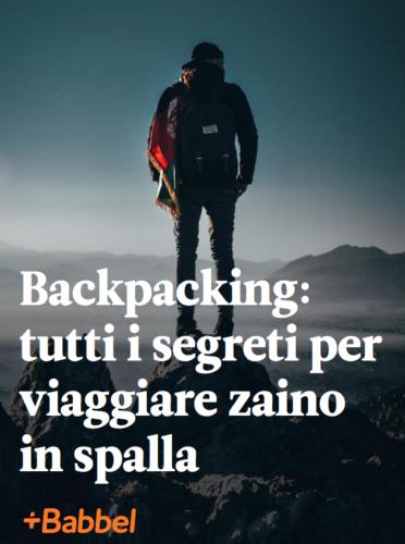 backpacking- zaino in spalla
