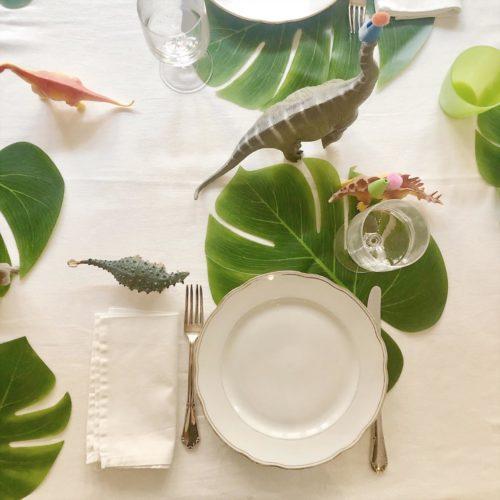 festa primo compleanno - mise en place- decorazioni - dinosauri