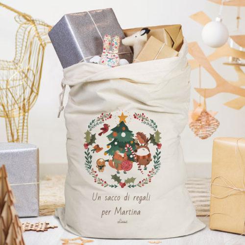 regalo pratico organizzato personalizzato sacco natale