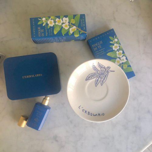 un te con erbolario fragranza foglie di tea lover blu cerimonia